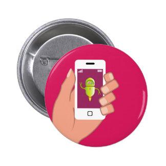 Media Helper Robot Phone App 2 Inch Round Button