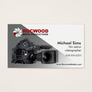 """Media Production"" Consultant, Film Editor, Video Business Card"
