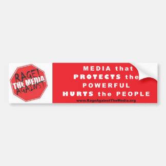 Media that Protects the Powerful bumper sticker--W Bumper Sticker