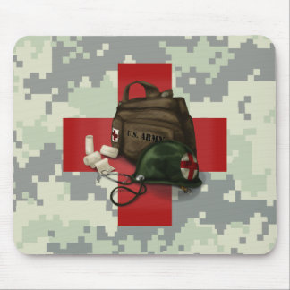 Medic Cross Camo Mouse Pad