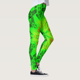 Medic Man Green Kaleidoscope Leggings