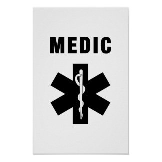 Medic Star of Life Poster