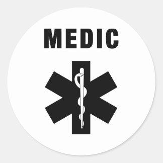 Medic Star of Life Round Sticker