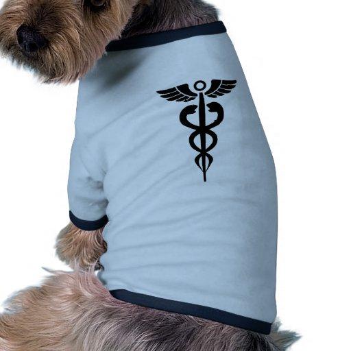 medical2006 BLACK MEDICAL SYMBOL HEALTH Doggie Tee Shirt