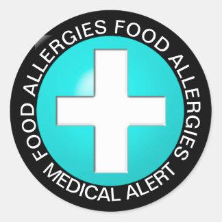 Medical Alert - Aqua Classic Round Sticker
