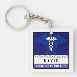 Medical Alert Keychain Blue - Customize