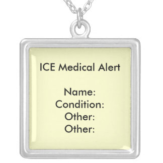 MEDICAL ALERT NECKLACE ~ Customize!