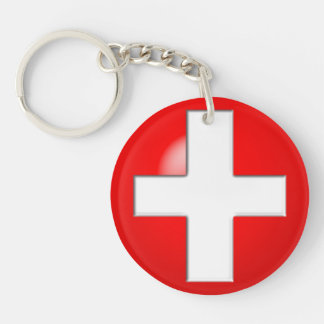 Medical Alert - Red Keychain