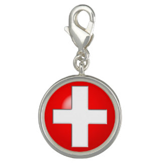 Medical Alert - Red Photo Charms