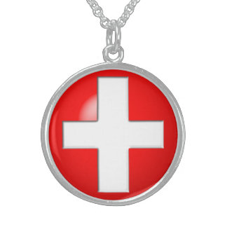 Medical Alert - Red Sterling Silver Necklace
