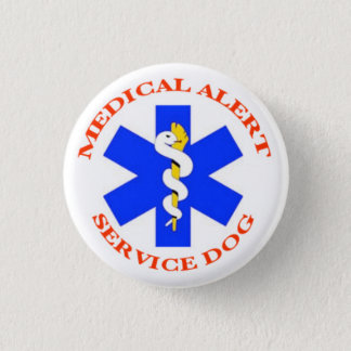 Medical Alert Service Dog button