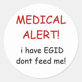 MEDICAL ALERT sticker