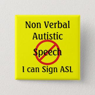 Medical Alert Tools Non Verbal Autistic 2 Inch Square Button