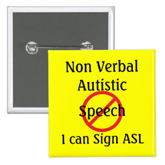 Medical Alert Tools Non Verbal Autistic 2 Inch Square Button