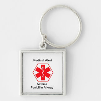 Medical allergy alert keychains (customizable)