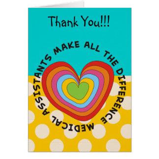 Medical Assistant Appreciation Card Blue