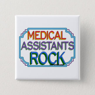 Medical Assistants Rock 2 Inch Square Button