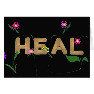 medical band aids with flowers card
