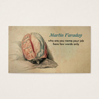 medical business card human brain