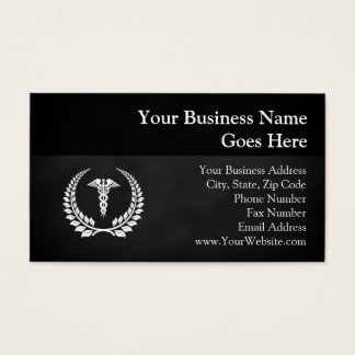Medical Caduceus Laurel Business Card