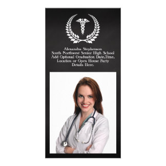 Medical Caduceus Laurel Card