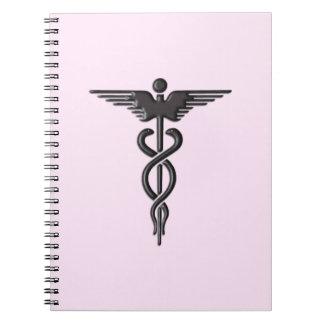Medical Caduceus on Pink Notebooks
