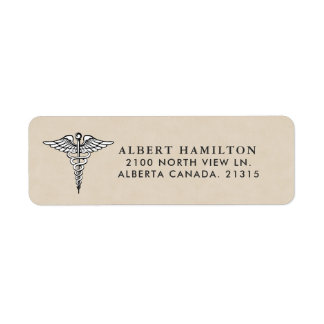Medical Caduceus Symbol | Return Address Return Address Label