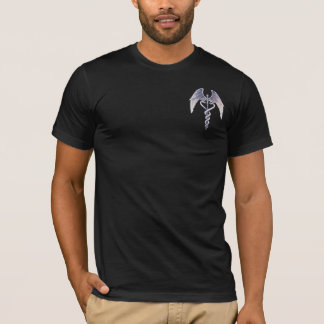 Medical Caduceus Winged Symbol Mens T-Shirt