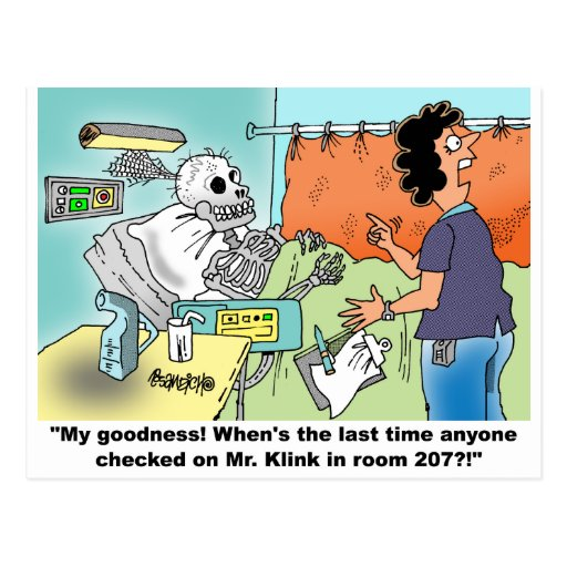 Medical Cartoon Humor Postcards