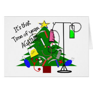 Medical christmas Tree Gifts--Funny Greeting Card
