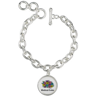 Medical Coder Blooms2 Bracelet
