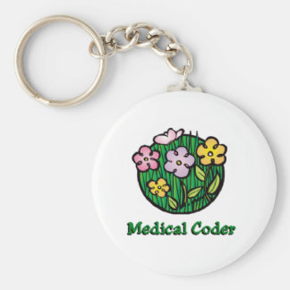 Medical Coder Blooms2 Keychain
