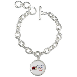 Medical Coder Ladybug2 Charm Bracelets