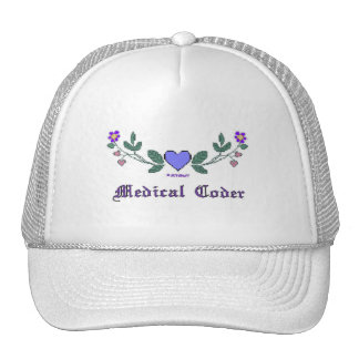 Medical Coders Blue CS Print Trucker Hat