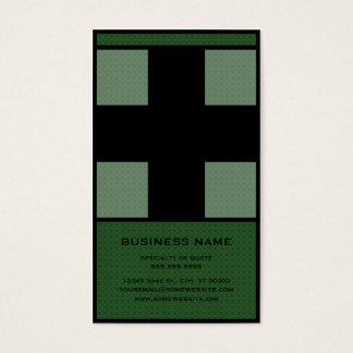 medical cross business card