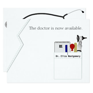Medical Degree Graduation Party Invitation
