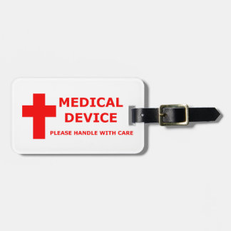 Medical Device Equipment Luggage Tag