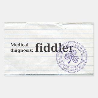 Medical diagnosis: Fiddler Sticker