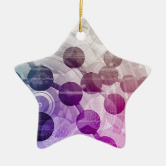 Medical Discovery Science Research Ceramic Star Ornament
