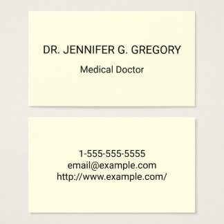 Medical Doctor Business Card