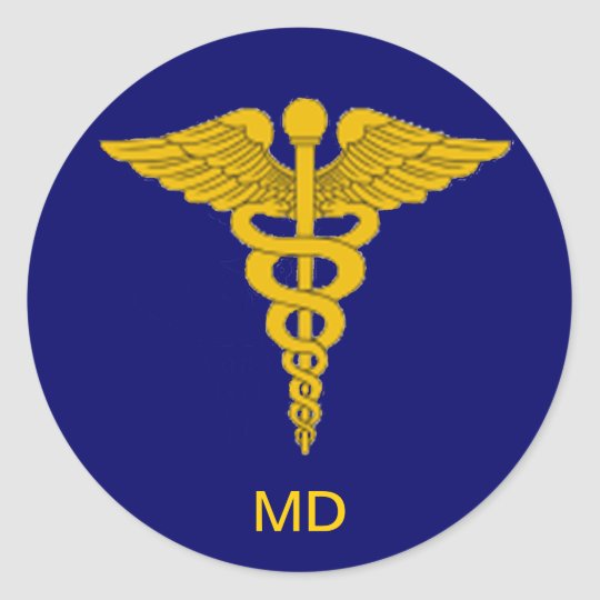 Medical Doctor Caduceus  Sticker