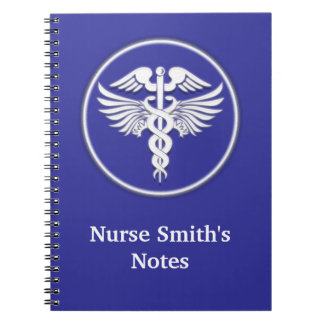 Medical doctor nurse notes blue notebook