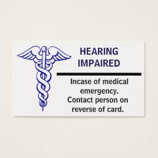 Medical Emergency Card. Business Card