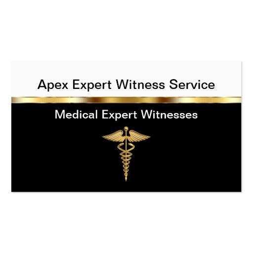Medical Expert Witness Business Cards