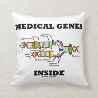 Medical Genes Inside DNA Replication Genetics Throw Pillow