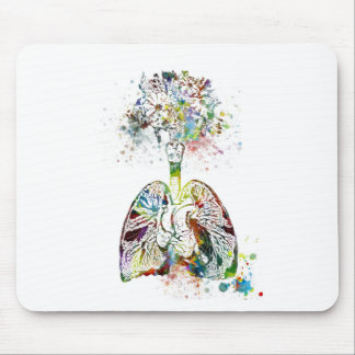 Medical Gifts Heart and Lungs Motif Mouse Pad
