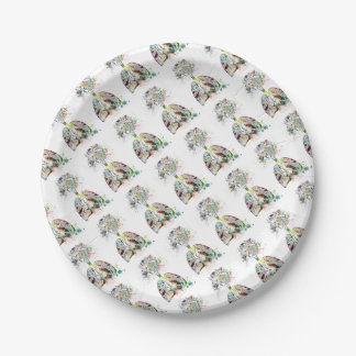 Medical Gifts Heart and Lungs Motif Paper Plate