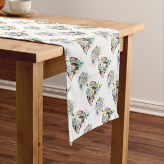 Medical Gifts Heart and Lungs Motif Short Table Runner