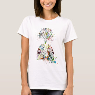 Medical Gifts Heart and Lungs Motif T-Shirt