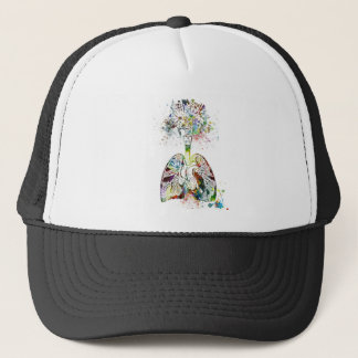 Medical Gifts Heart and Lungs Motif Trucker Hat